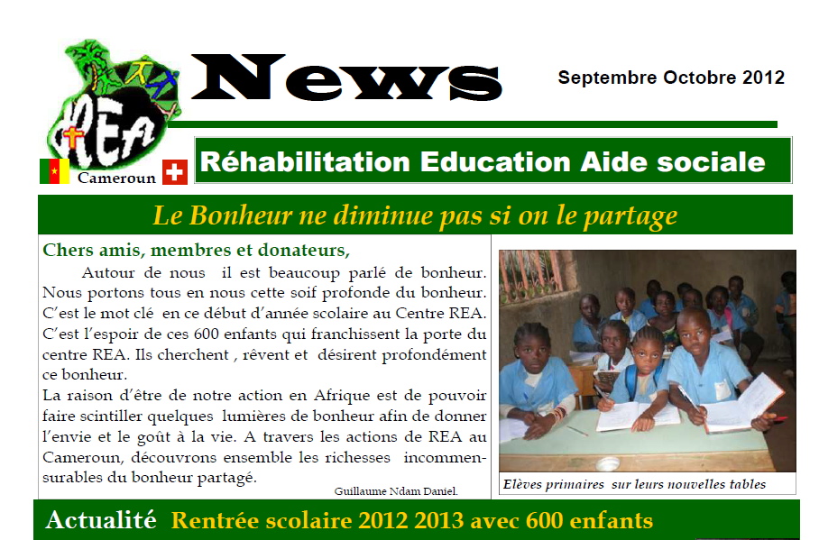 REANews Automne 2012